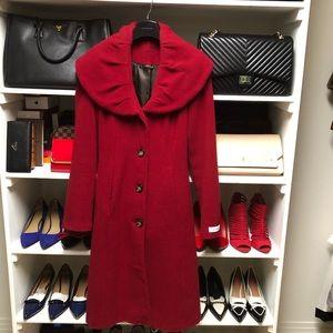 Calvin Klein Long Red Coat